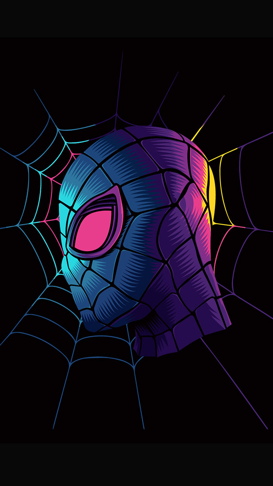 Spider Man Black iPhone Wallpaper