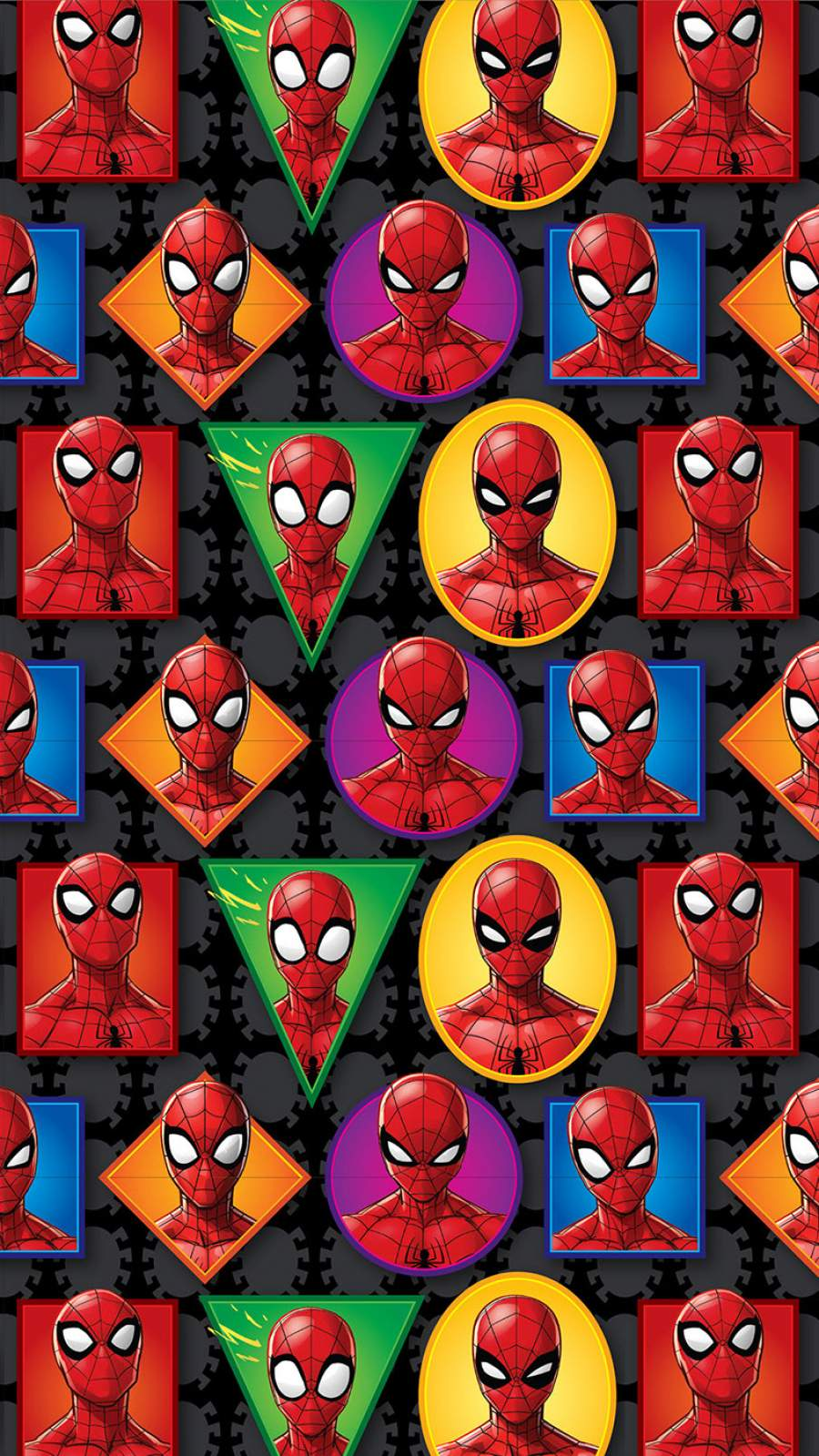 Spider Man Faces iPhone Wallpaper
