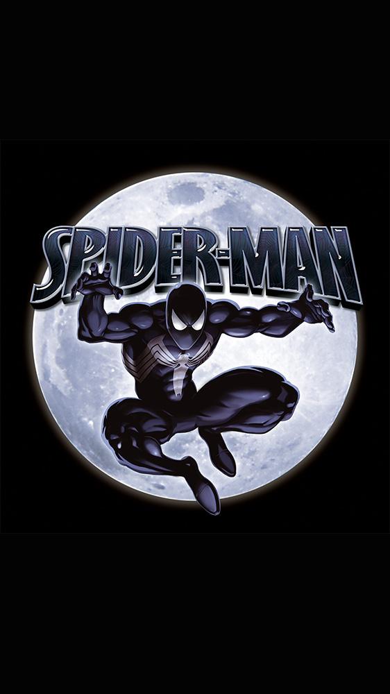 Spider Man Moon iPhone Wallpaper