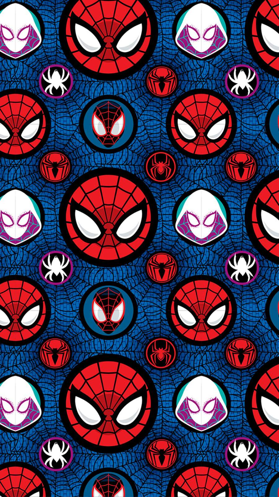 Spider Verse Pattern iPhone Wallpaper