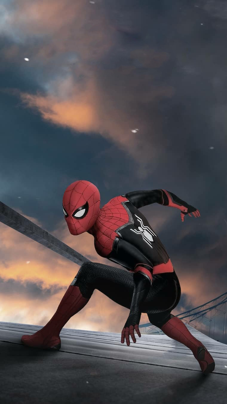 Spiderman Action iPhone Wallpaper