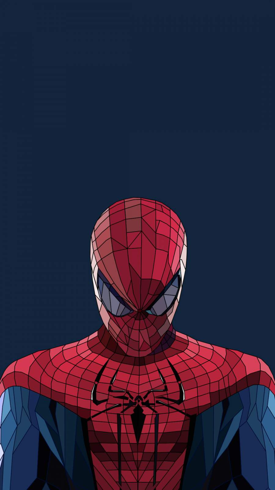 Spiderman Low Poly Artwork iPhone Wallpaper