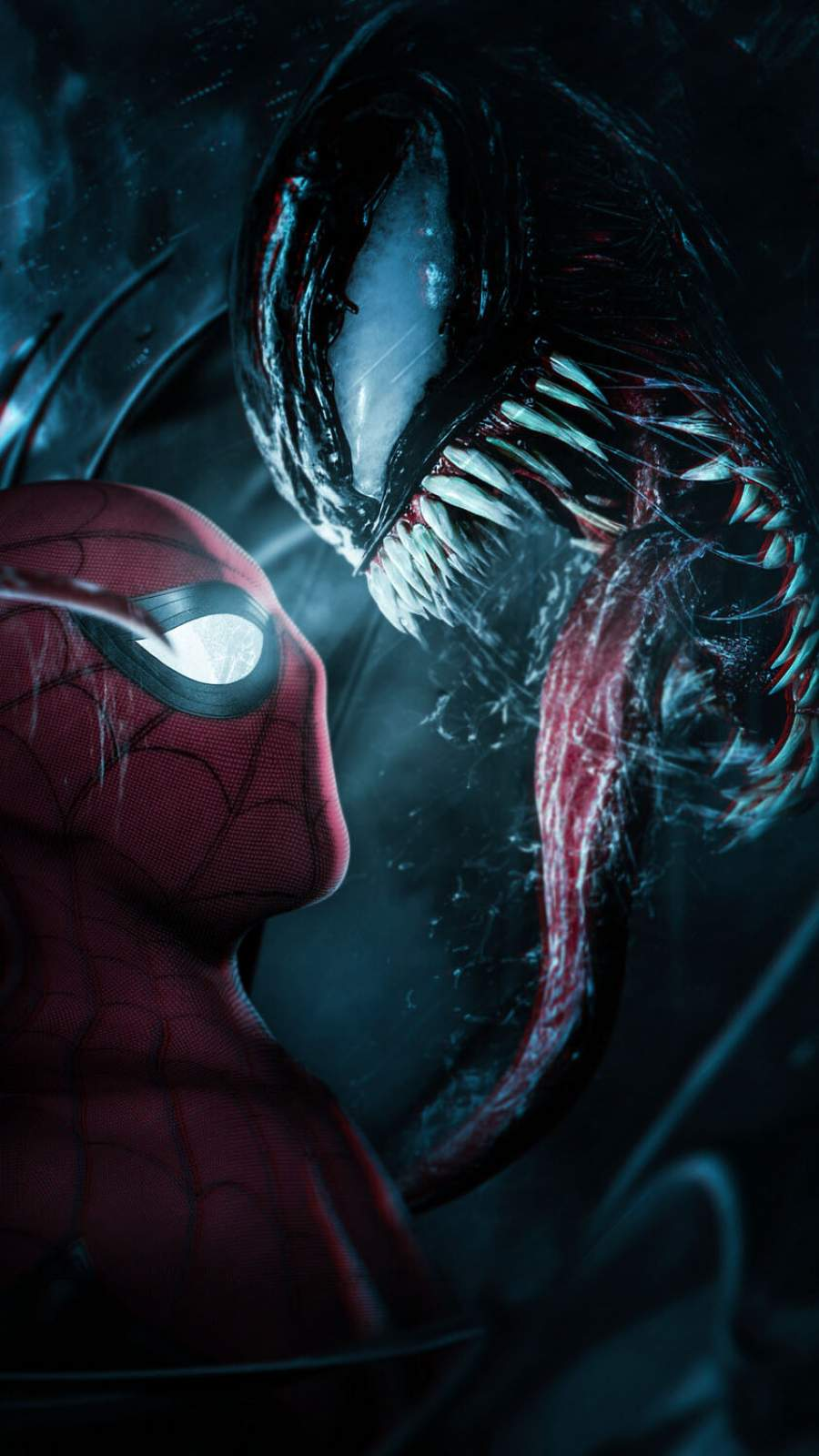 Spiderman Meets Venom iPhone Wallpaper