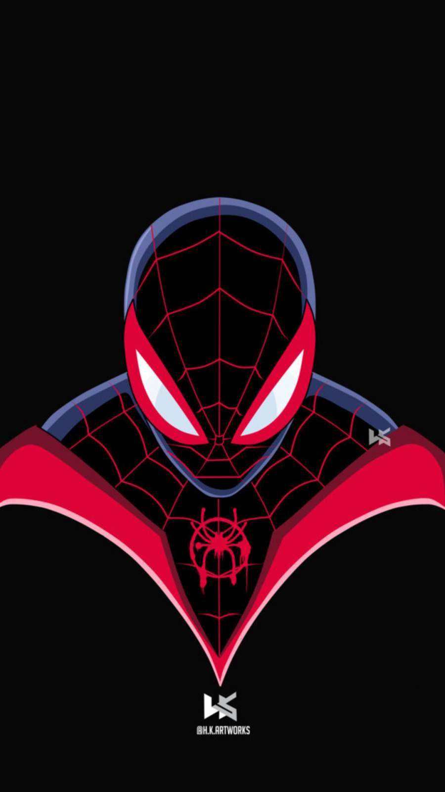Spiderman Miles Morales Art iPhone Wallpaper