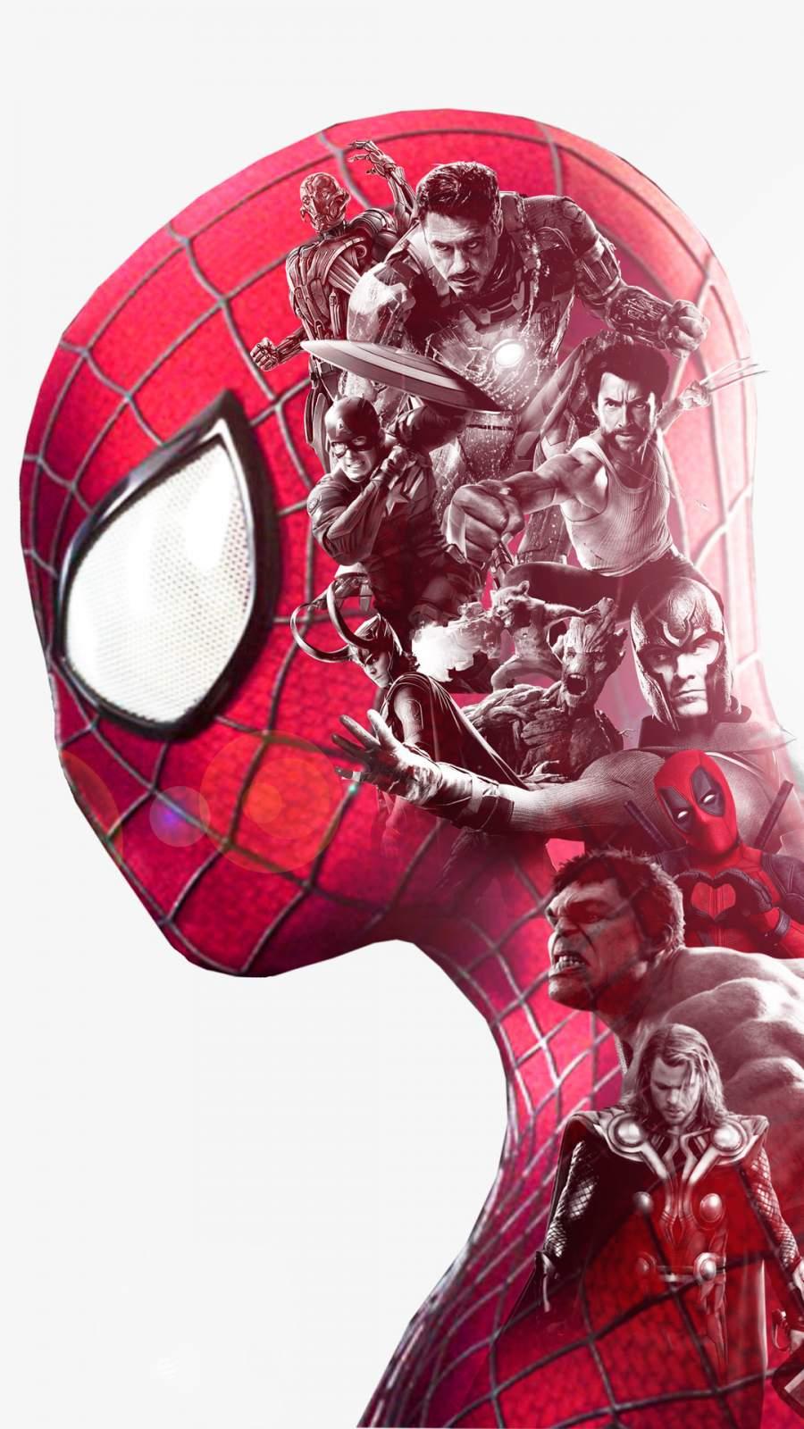 Spiderman Superheroes Art iPhone Wallpaper