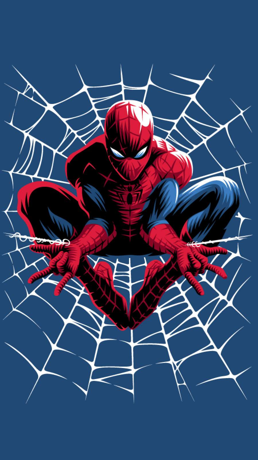 Spiderman Web Art iPhone Wallpaper 1