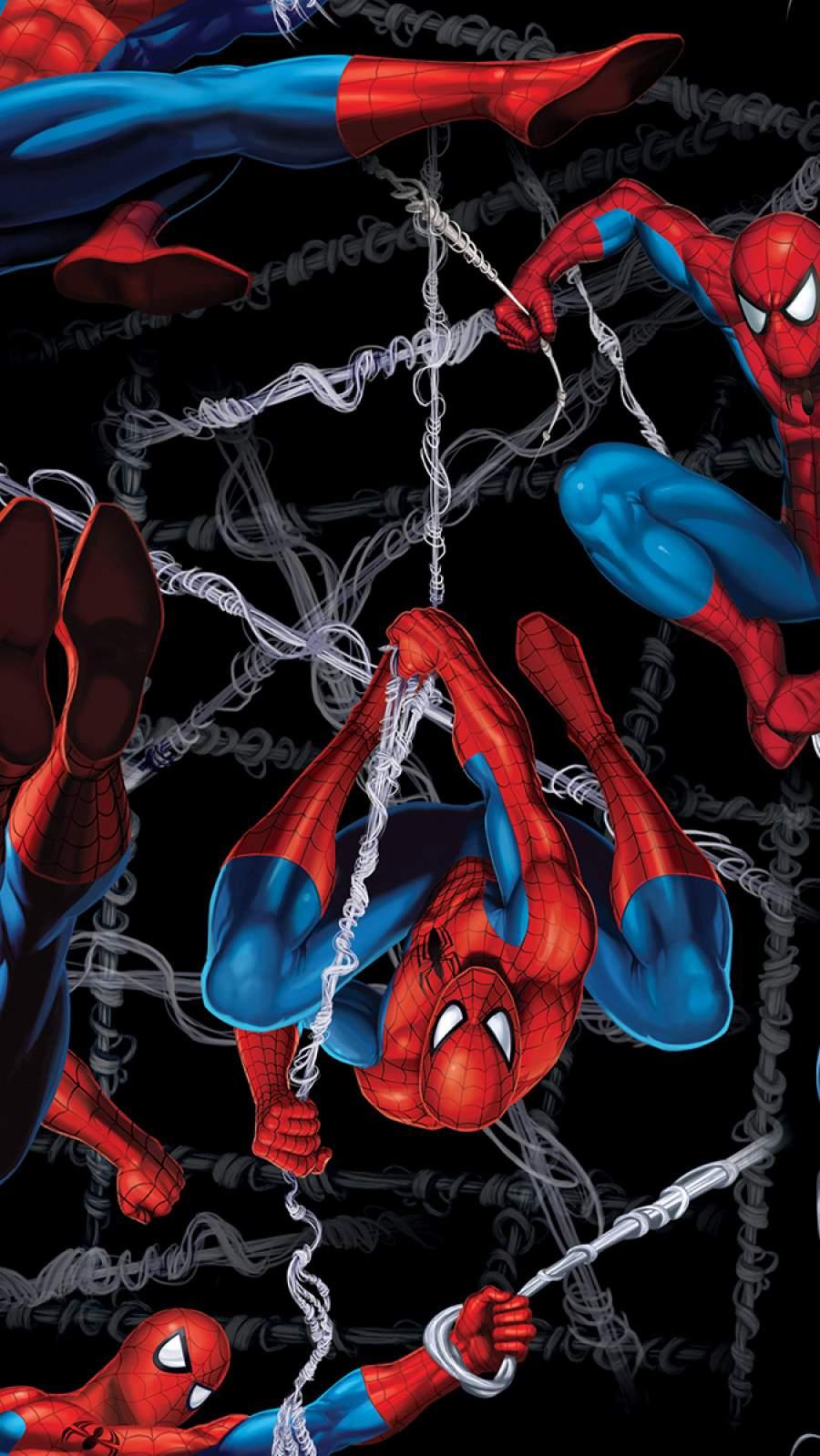 Spiderman Web Art iPhone Wallpaper
