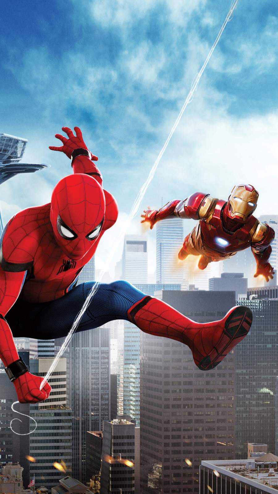 Spiderman and Iron Man iPhone Wallpaper