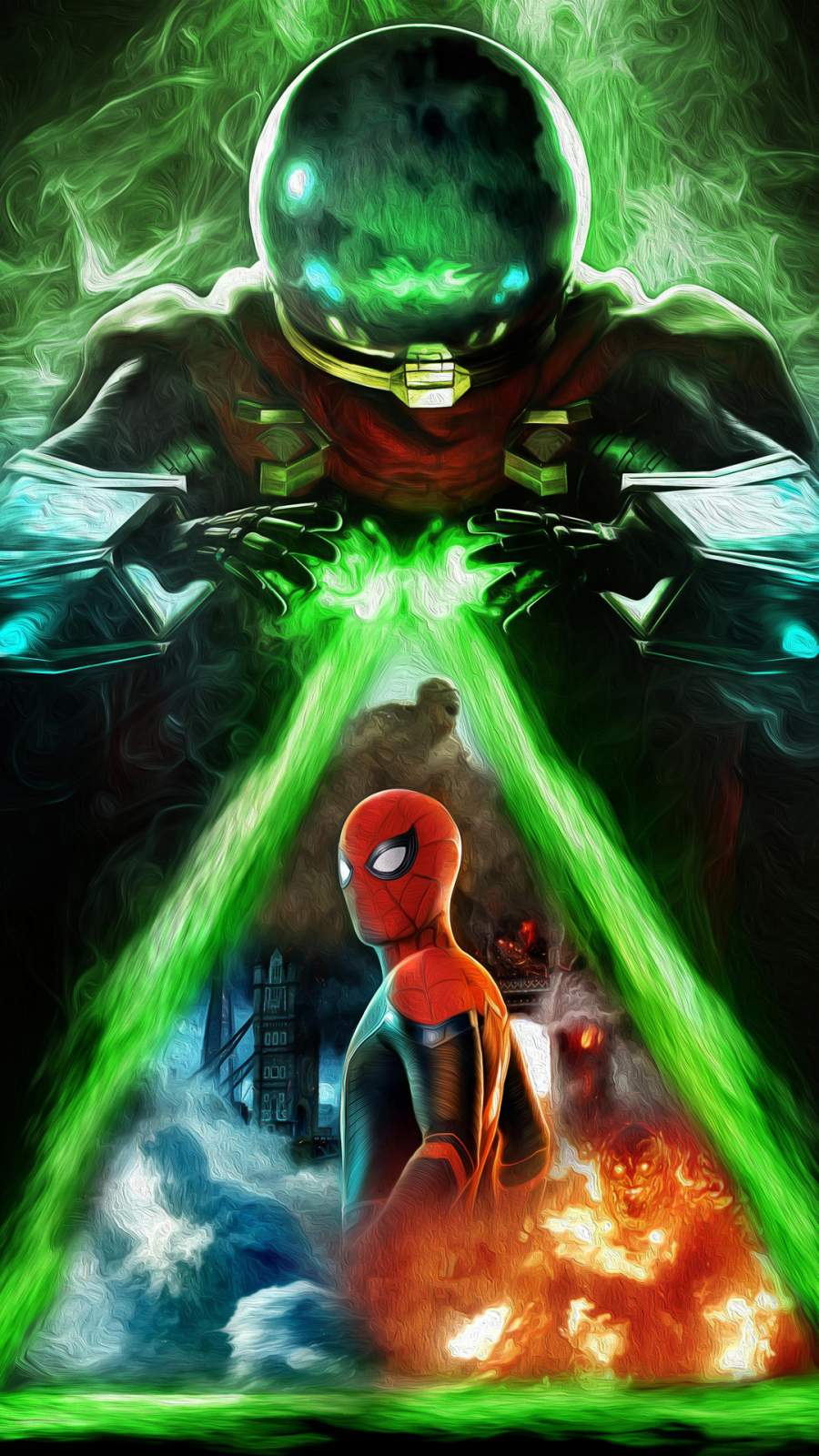 Spiderman far from Home Art iPhone Wallpaper