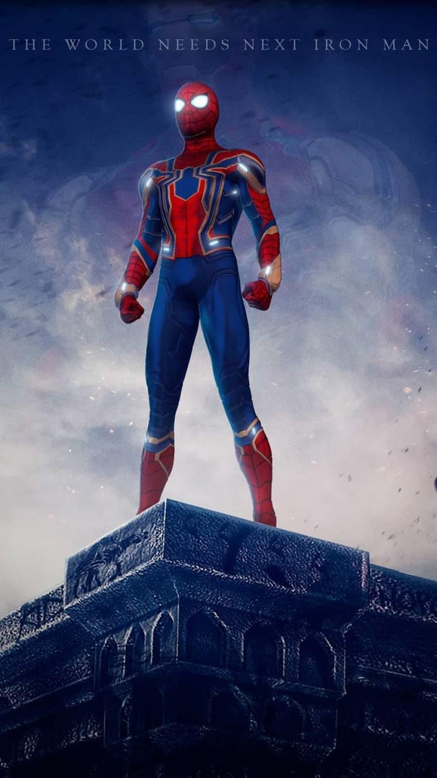 Spiderman is Next Iron Man iPhone Wallpaper