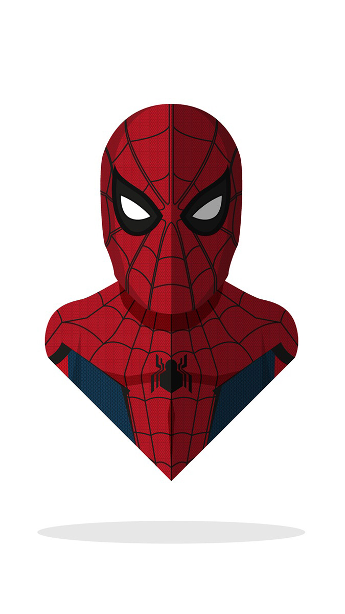 Spidey Minimal Art iPhone Wallpaper