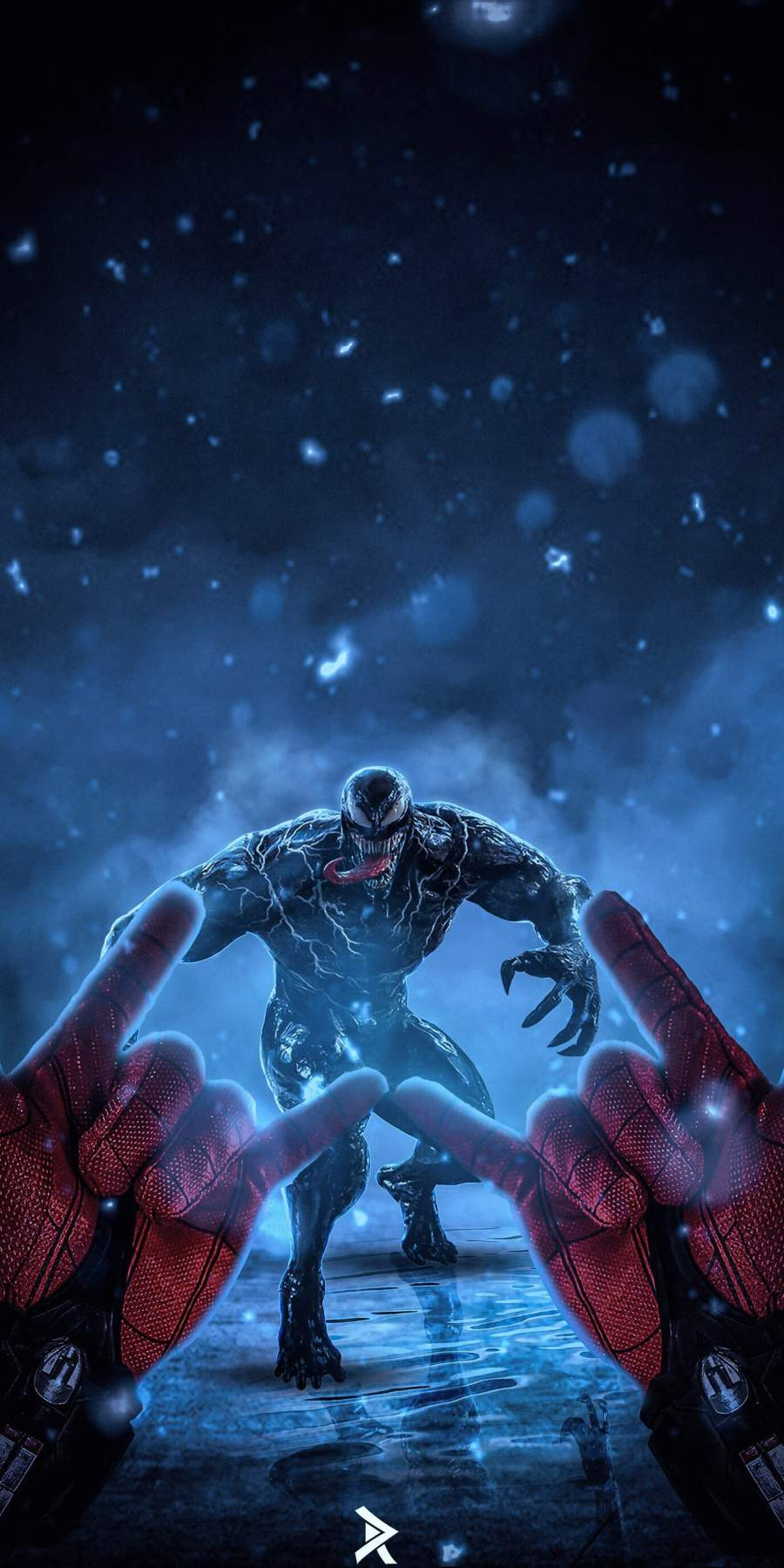 Spidey vs Venom iPhone Wallpaper