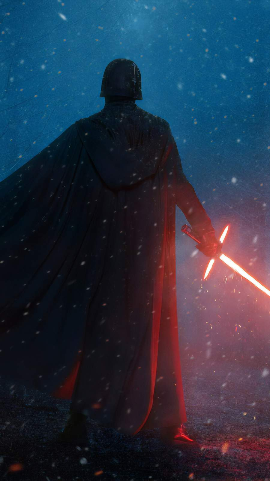 Star Wars Sword and Vader iPhone Wallpaper