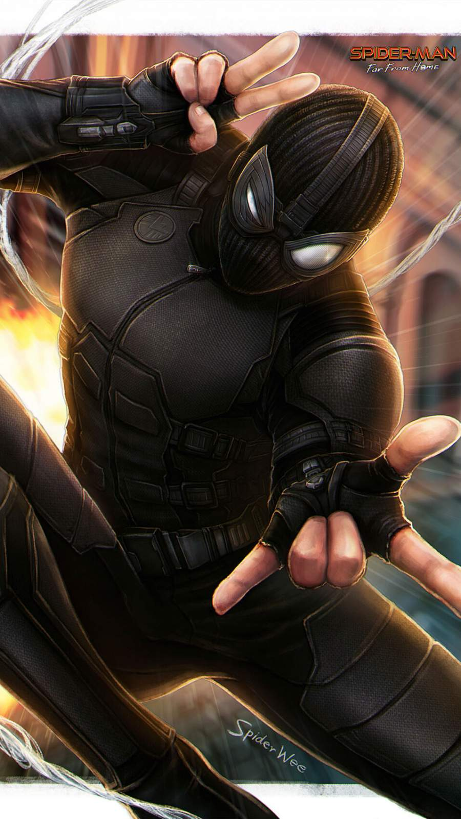 Stealth Spiderman Suit iPhone Wallpaper