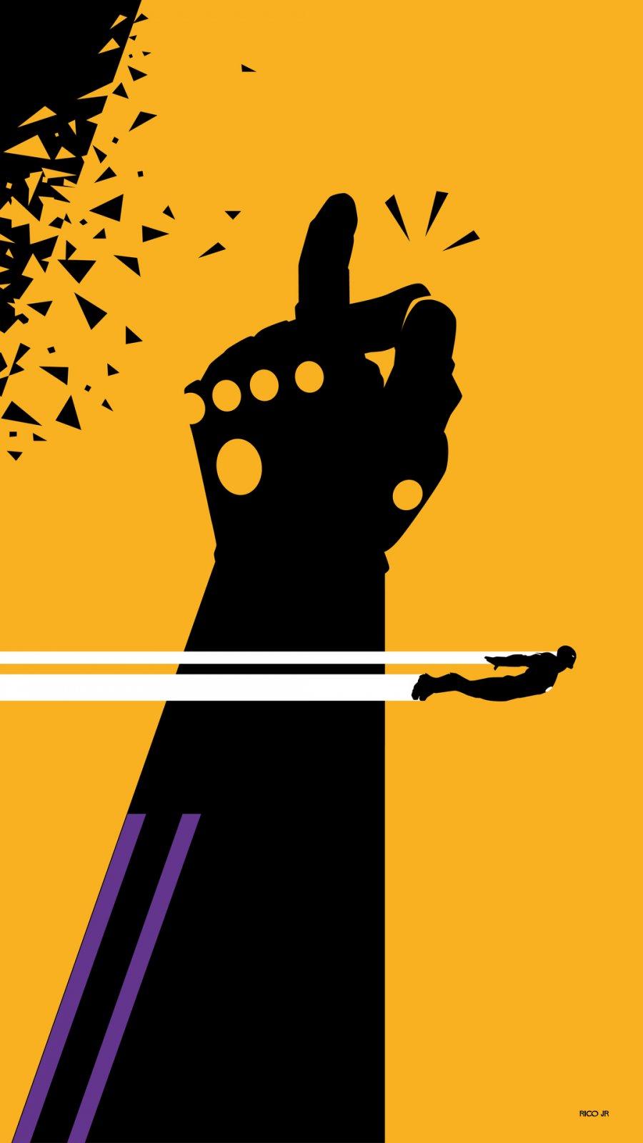 Thanos Snap vs Iron Man iPhone Wallpaper