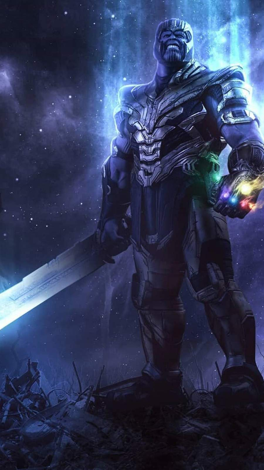Thanos and Sword iPhone Wallpaper