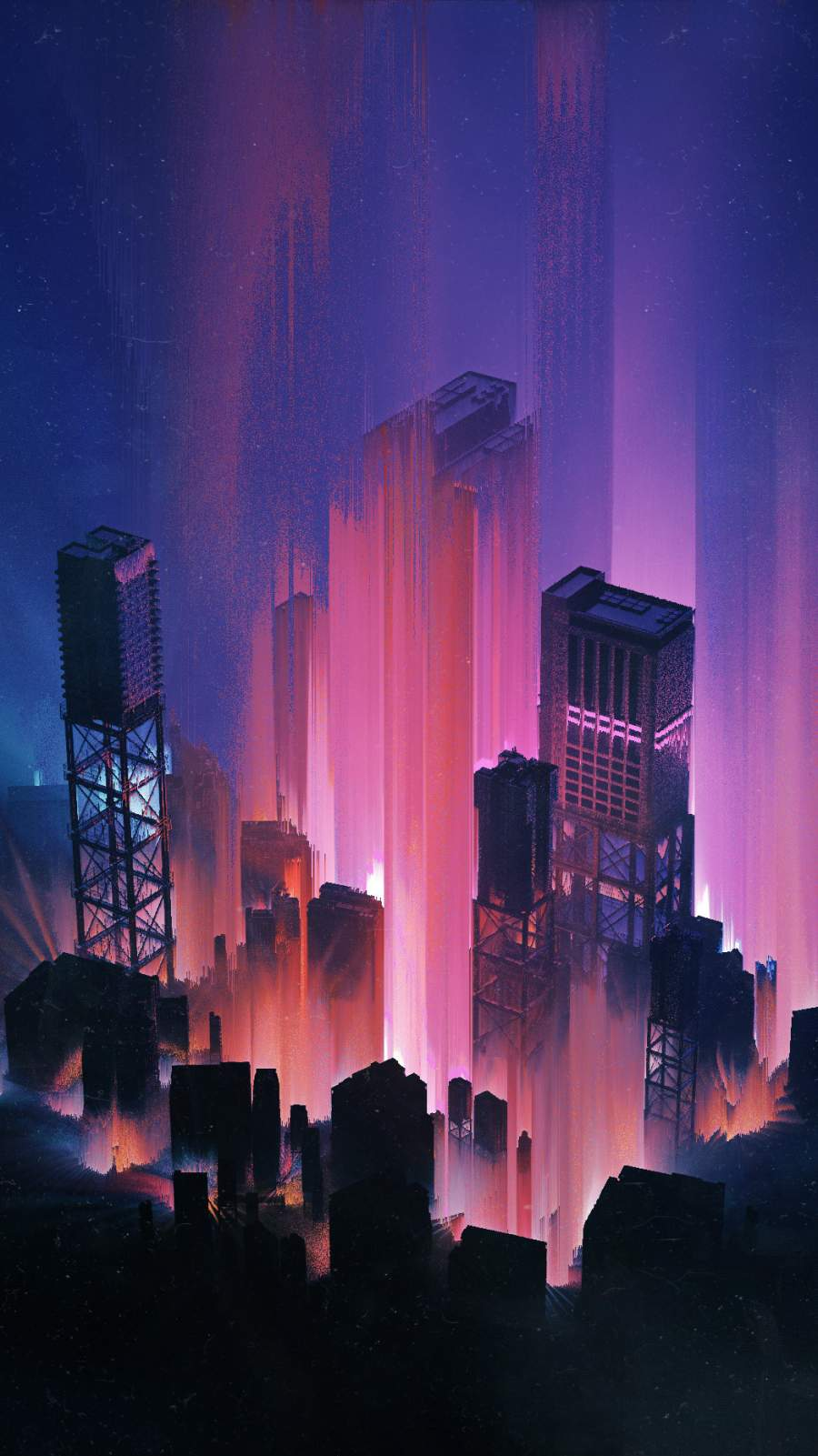 The Cyber City iPhone Wallpaper