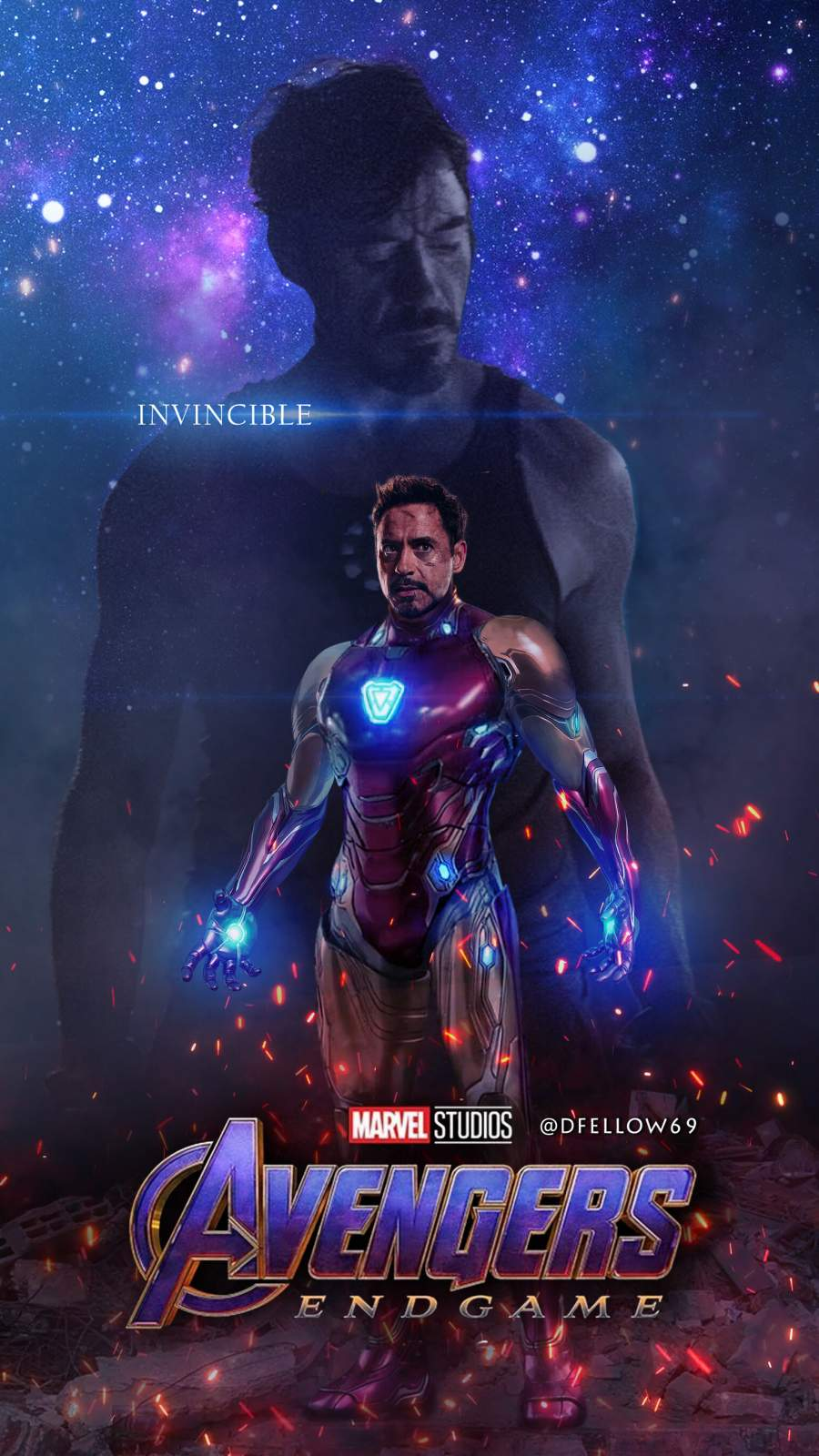 The Invincible Iron Man iPhone Wallpaper