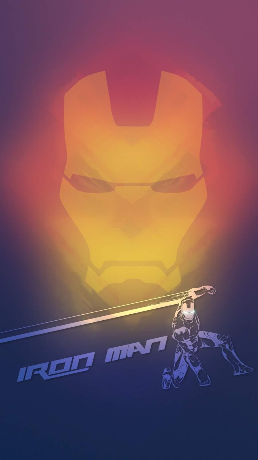 The Iron Man Art iPhone Wallpaper