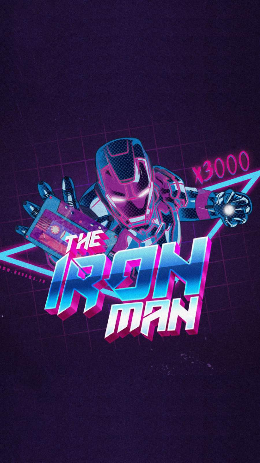 The Iron Man Love You 3000 iPhone Wallpaper