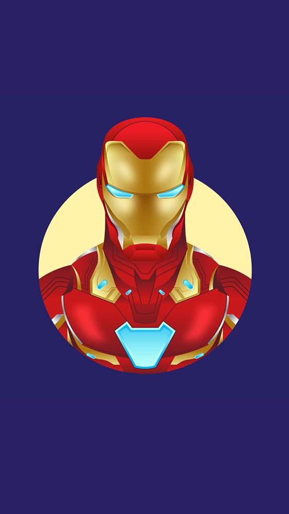 The Iron Man Simple Art iPhone Wallpaper