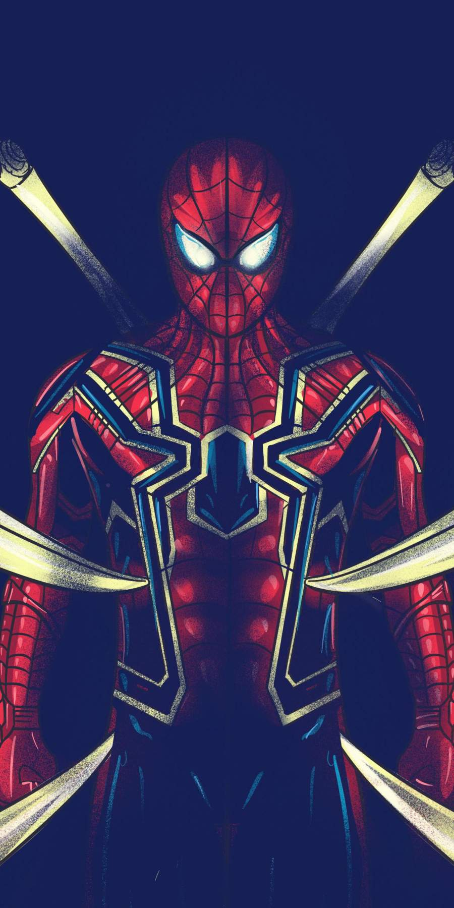 The Iron Spider Octopus iPhone Wallpaper