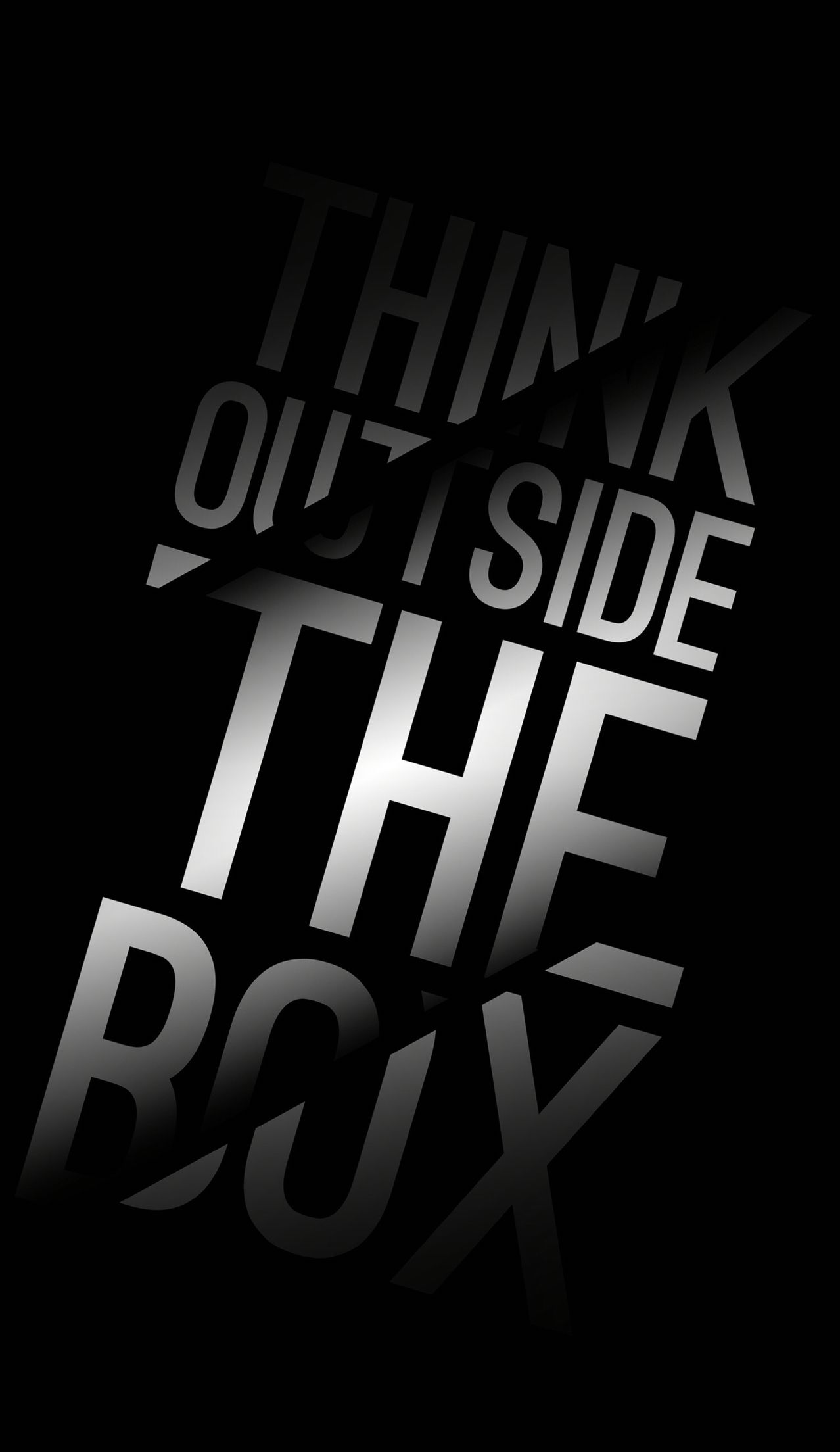 Think Outside the Box iPhone Wallpaper