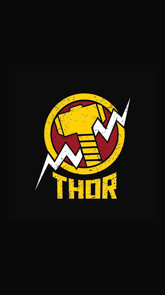 Thor Hammer iPhone Wallpaper