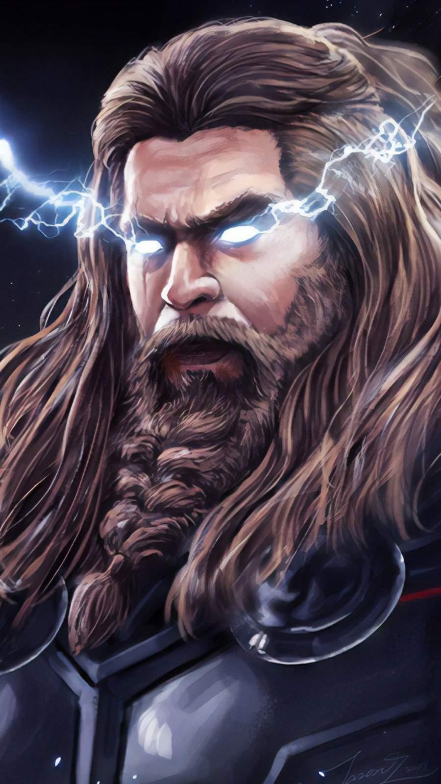 Thor Thunder Lighting iPhone Wallpaper