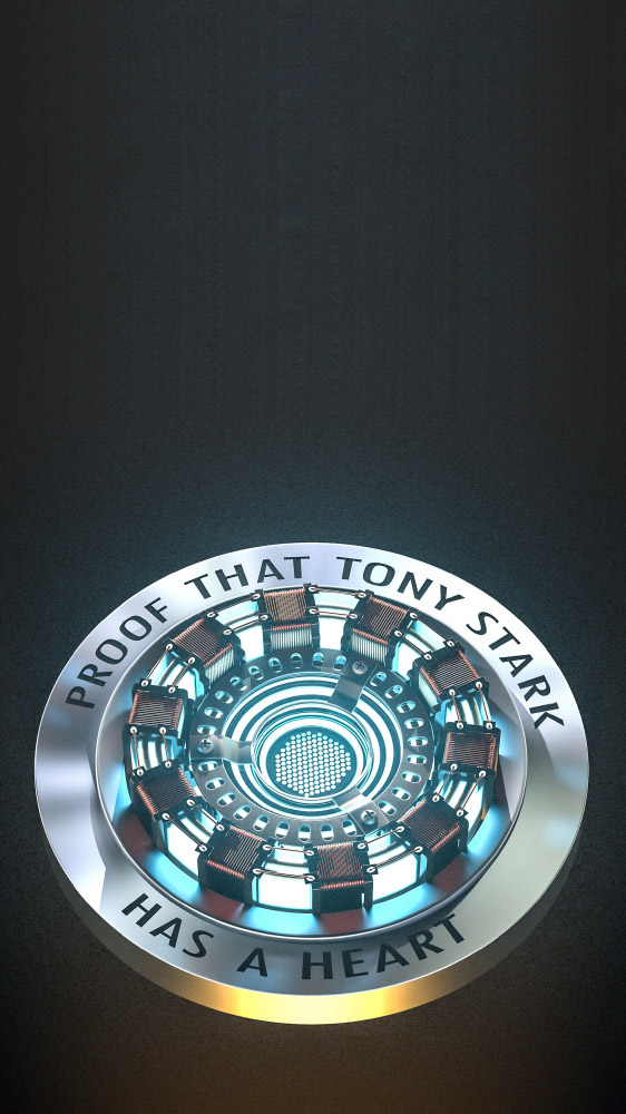 Tony Stark Heart Arc Reactor Mark 1 iPhone Wallpaper