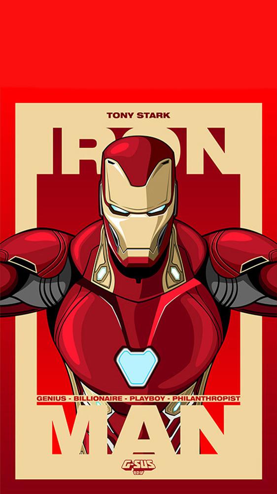 Tony Stark Iron Man iPhone Wallpaper