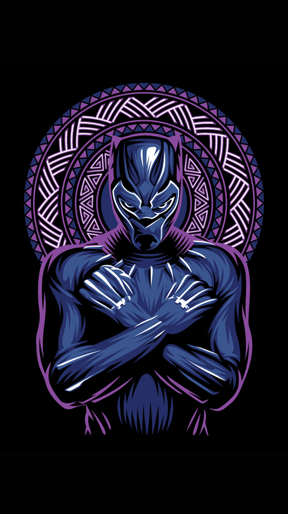 Wakanda King Black Panther Art iPhone Wallpaper