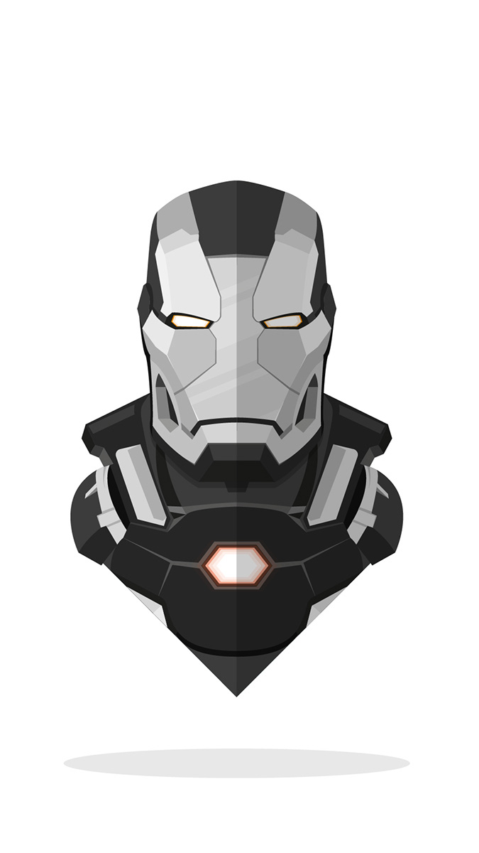 War Machine Minimal Art iPhone Wallpaper