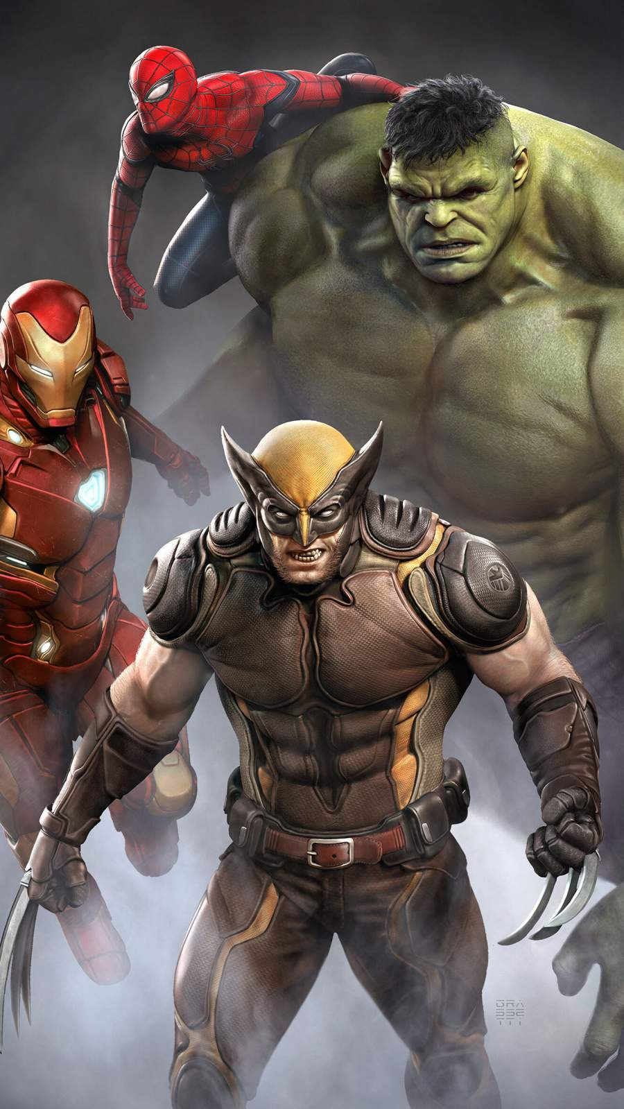 X Men with Avengers iPhone Wallpaper