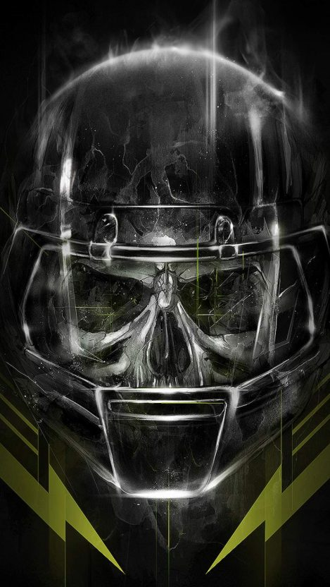 Zombie American Football iPhone Wallpaper