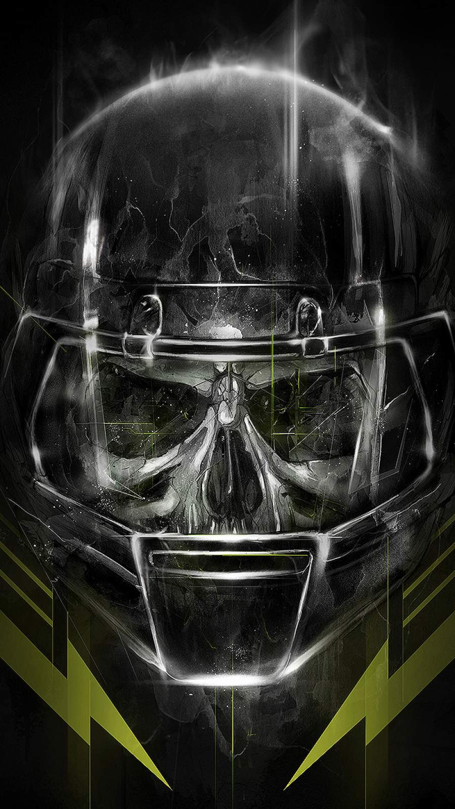 Zombie American Football iPhone Wallpaper