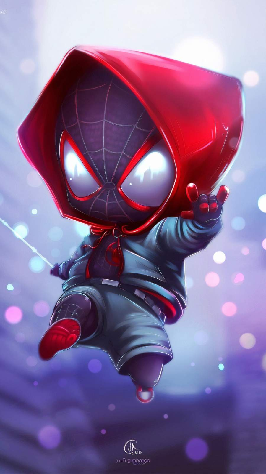 Adorable Spiderman iPhone Wallpaper