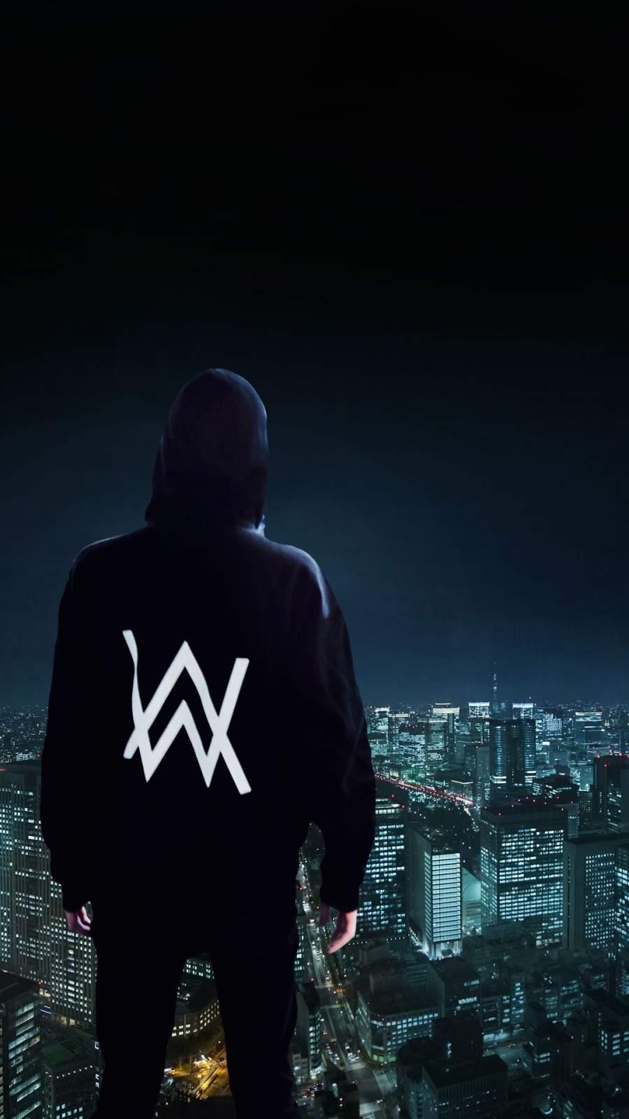 Alan Walker Standing on Edge iPhone Wallpaper
