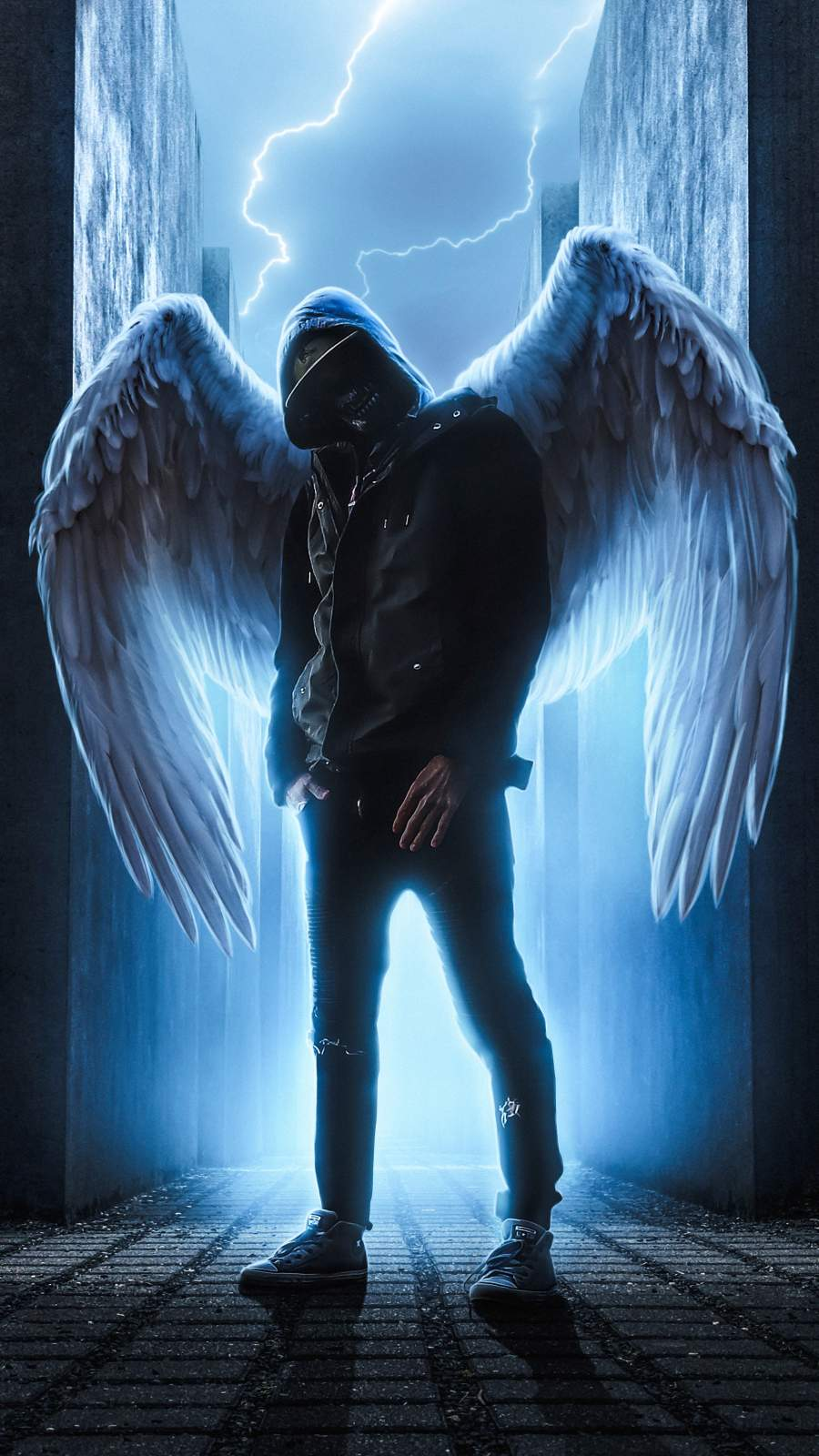 Angel of Hell iPhone Wallpaper