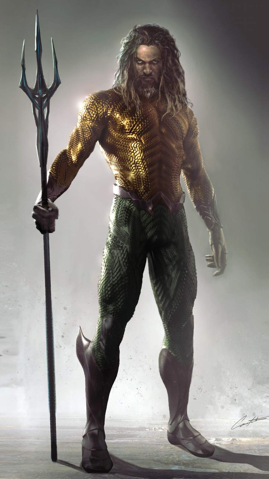 Aquaman Art iPhone Wallpaper 1
