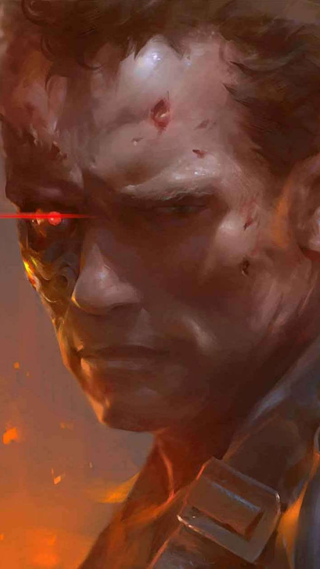 Arnold Schwarzenegger as Terminator Artwork iPhone Wallpaper