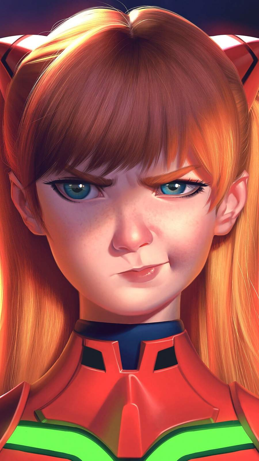 Asuka Langley Soryu iPhone Wallpaper