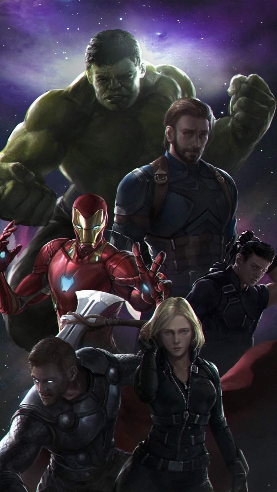 Avengers Team iPhone Wallpaper