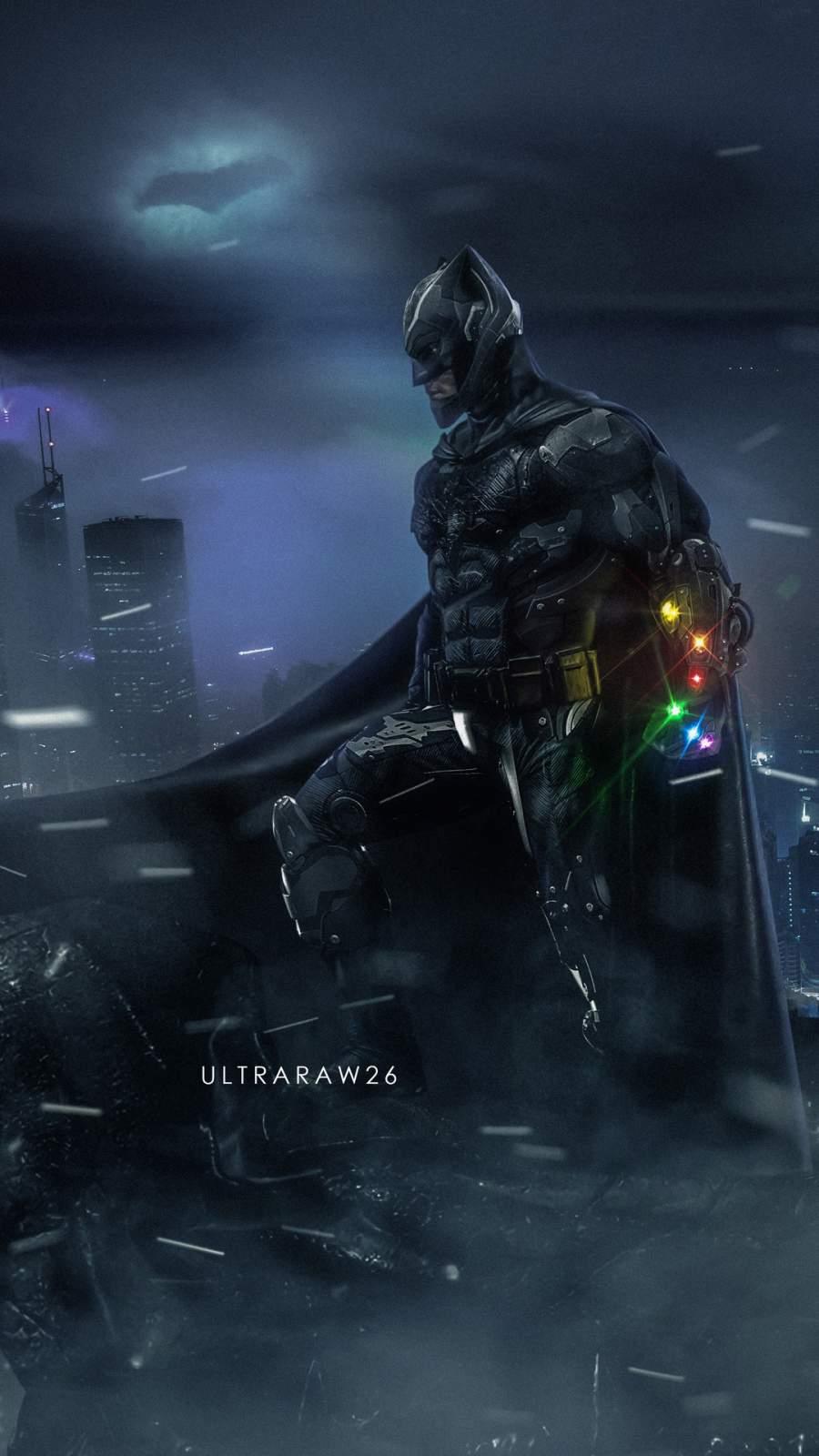 Batman Infinity Gauntlet iPhone Wallpaper