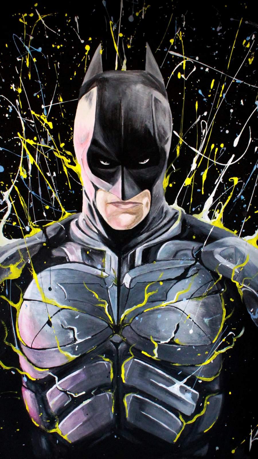 Batman Paint Art iPhone Wallpaper