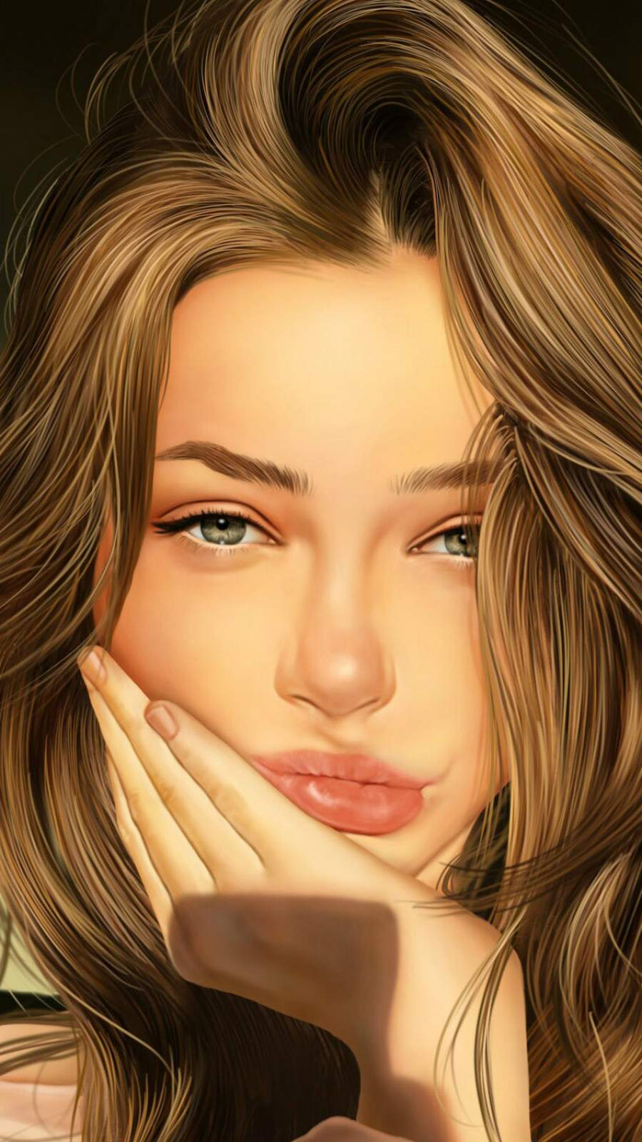 Beauty Girl iPhone Wallpaper