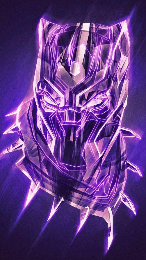 Black Panther King Artwork iPhone Wallpaper