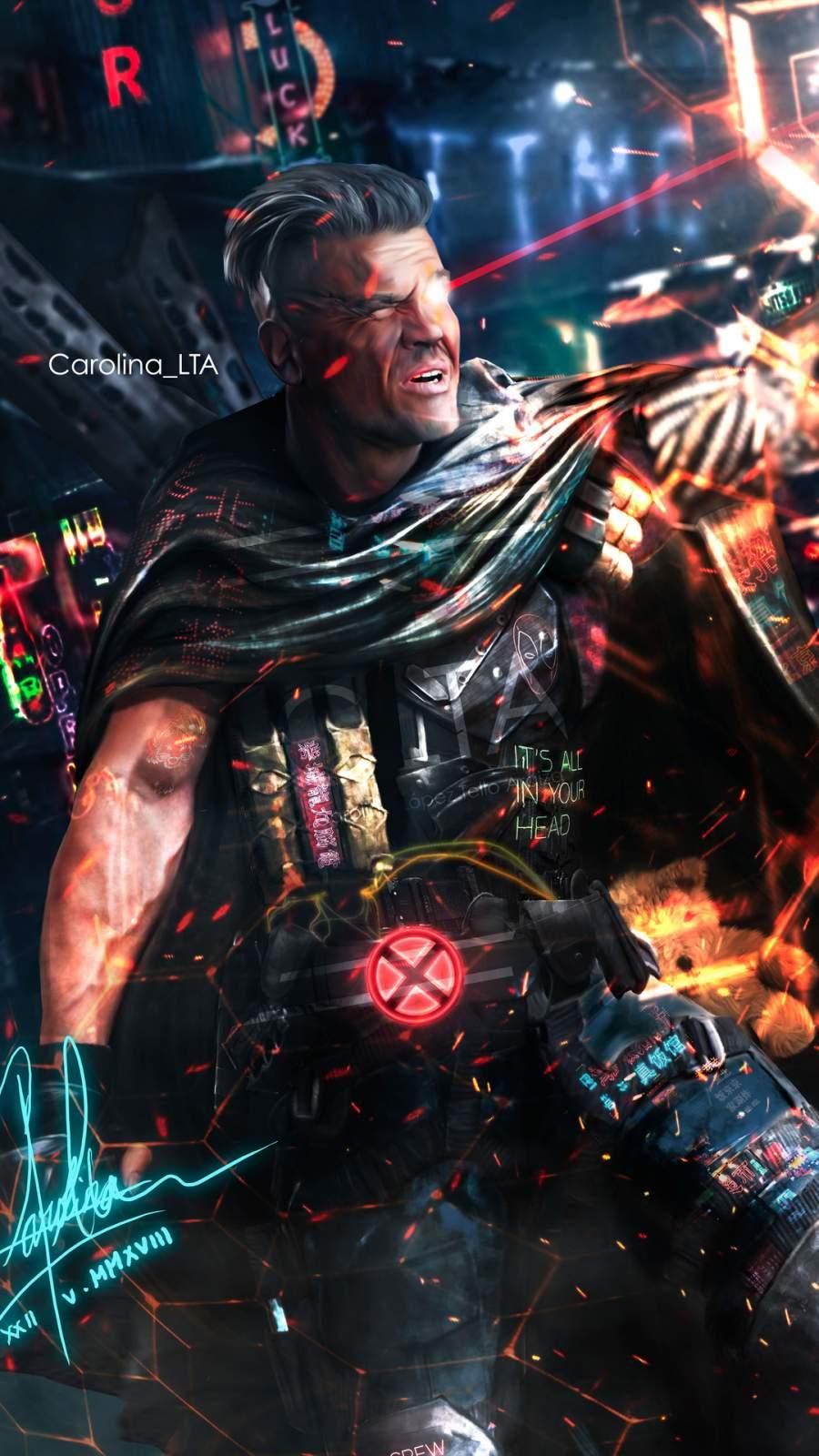 Cable Deadpool Art iPhone Wallpaper
