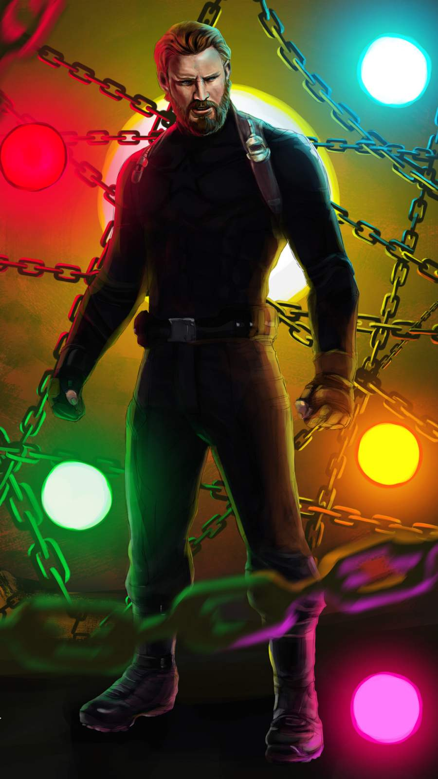 Captain America Art iPhone Wallpaper 1