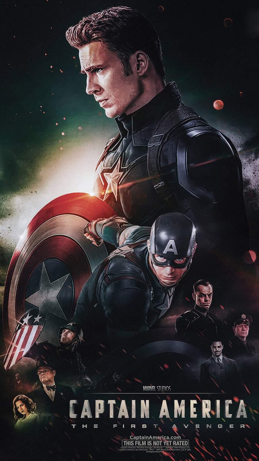 Captain America Poster iPhone Wallpaper